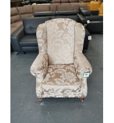 Ex-display Sofology Somerset gold floral fabric wing armchair