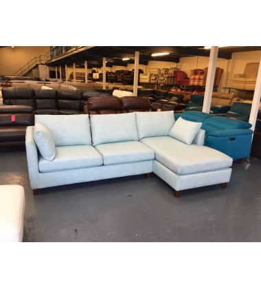 Ex-display Bari corner storage sofa bed in Sky Blue
