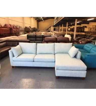 Ex-display Bari corner storage sofa bed in Sky Blue