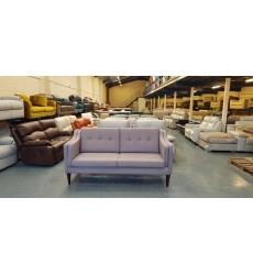 New Copenhagen grey fabric 3 seater sofa