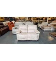 New cream fabic manual recliner 2 seater sofa