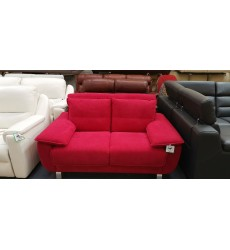 Ex-display Fling small red fabric sofa bed