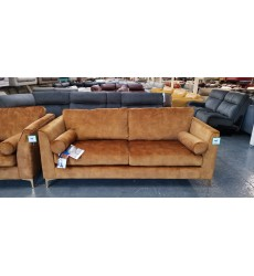 Ex-display Idol turmeric gold fabric 3+2 seater sofas
