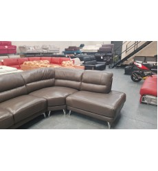 Ex-display Angie dark grey leather corner sofa