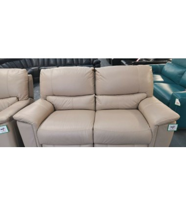 Ex-display Bliss pebble cream leather manual recliner 3+2 seater sofas