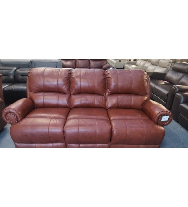 Ex-display Sofology Heritage Cat 60/07 Butterscotch leather 3+2 seater sofas