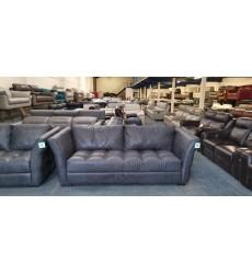 Ex-display Sofology Sardinia virginia slate grey leather 3+2 seater sofas
